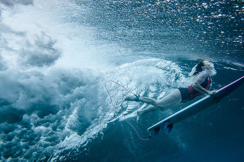 shesurfs.com.au - Mikala Wilbow - lifestyle photographer - fiji surf trip - Duck dive at Frigates